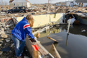 Destruction from Hurricane Sandy at Union Beach, NJ